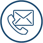 a phone and letter icon